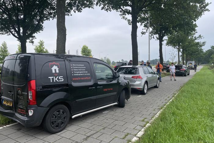Twee voertuigen betrokken bij kop-staart ongeval
