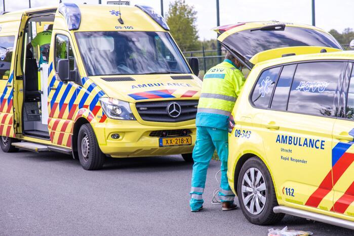 Fietser raakt gewond aan hoofd bij val