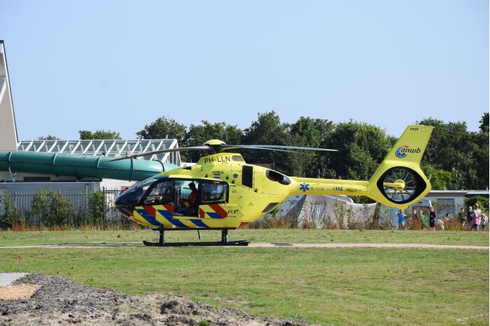 Traumahelikopter landt voor medisch incident op Camping De Duinhoeve