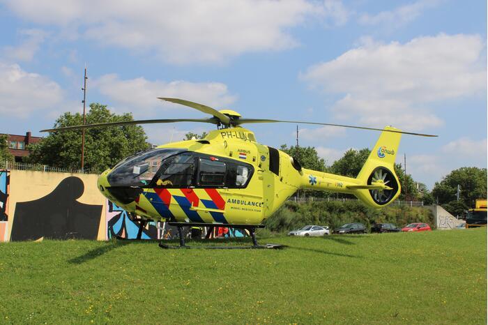 Traumahelikopter landt voor incident met baby