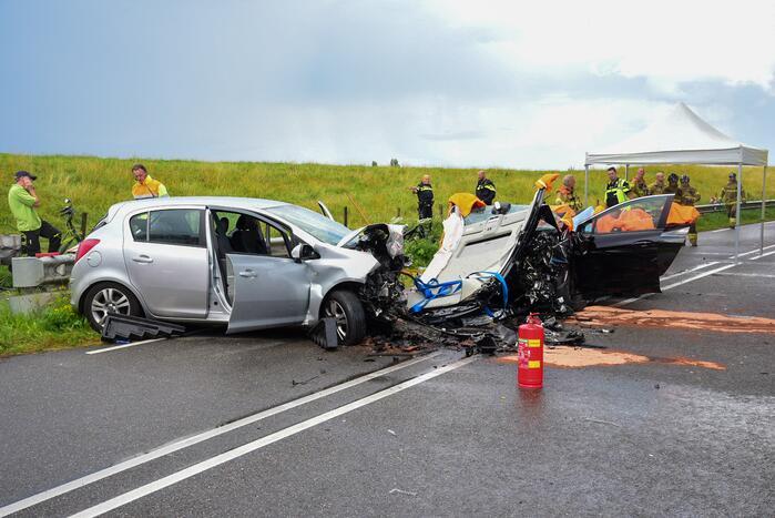 Meerdere gewonden bij zwaar verkeersongeval