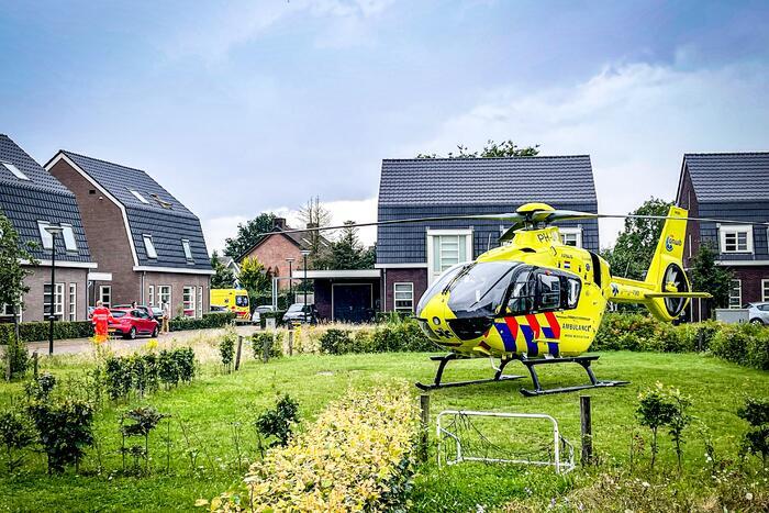 Traumahelikopter ingezet voor kindje