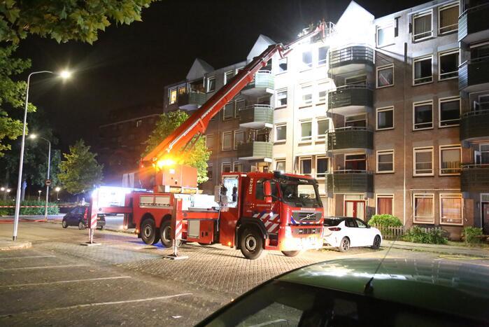 Grote brand in flatgebouw