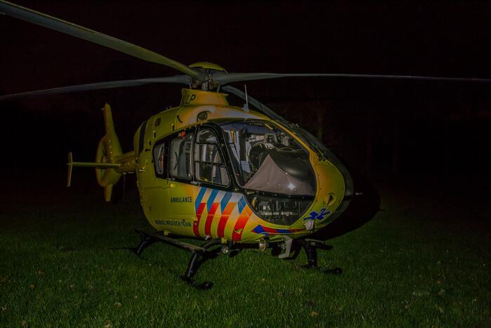 Traumahelikopter ingezet voor eenzijdig ongeval
