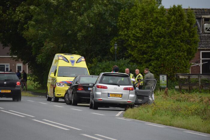 Schade aan personenauto's door botsing