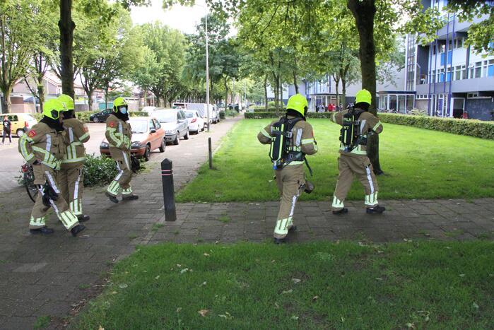 Brandweer doet onderzoek naar gaslucht