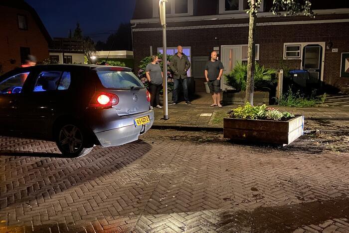 Forse schade bij eenzijdig ongeval in woonwijk