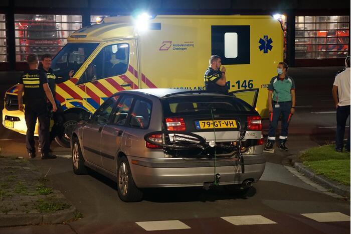 Fietser aangereden door personenauto