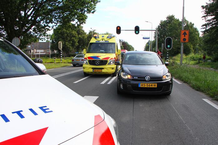 Fietser gewond door ongeval met personenauto