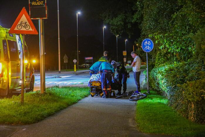 Mountainbiker gewond door ongeval