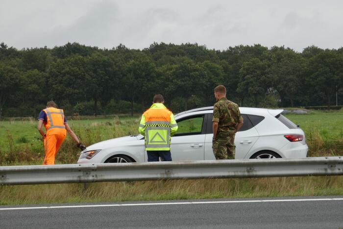 Militair betrokken bij ongeval op Rijksweg
