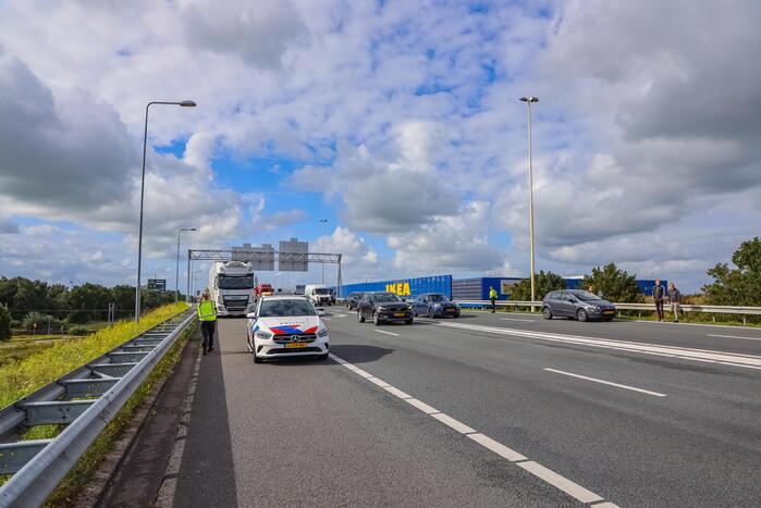 Twee ongevallen op snelweg