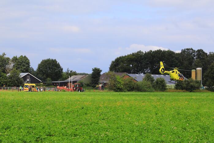 Traumahelikopter landt voor incident op kampeerboerderij