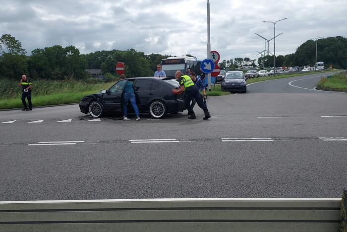 Drie auto's betrokken bij ongeval afrit A7