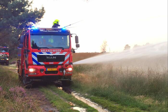 Brandweer oefent natuurbrandbestrijding