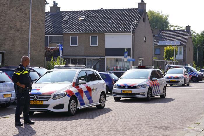 Grote politiemacht op de been in Oosterwei