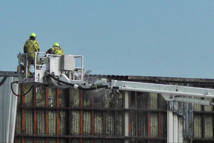 Grote brand bij Peute Recycling