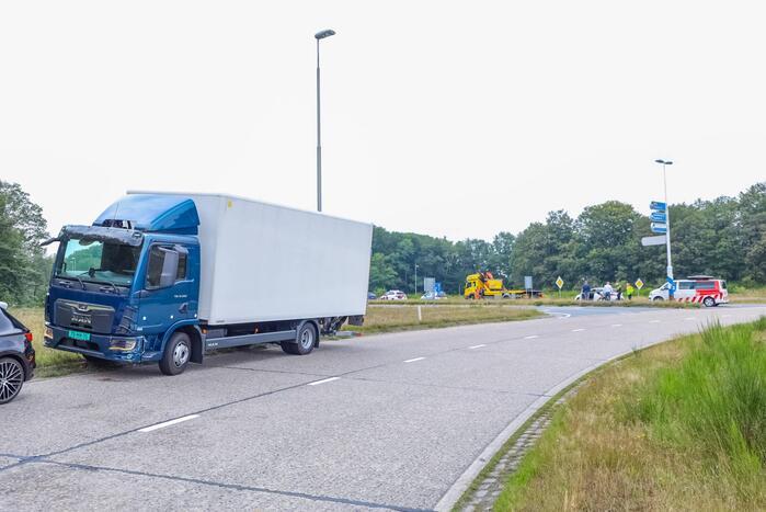 Aanrijding bij proefrit met vrachtwagen