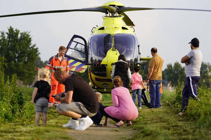 Traumahelikopter trekt veel bekijks