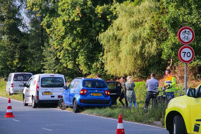 Schade aan voorraam van personenauto door ongeval