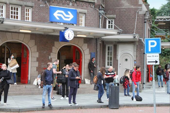 Drukte op treinstation door landelijke storing