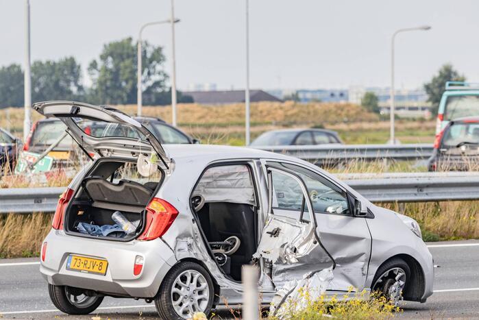 Veel schade bij ongeval met meerdere voertuigen