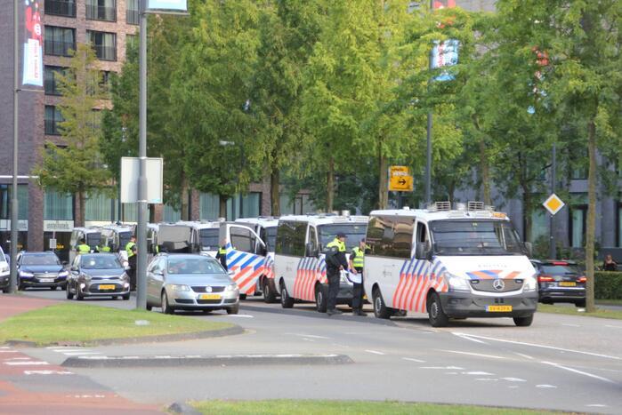 Veel politie op de been door voetbalwedstrijd