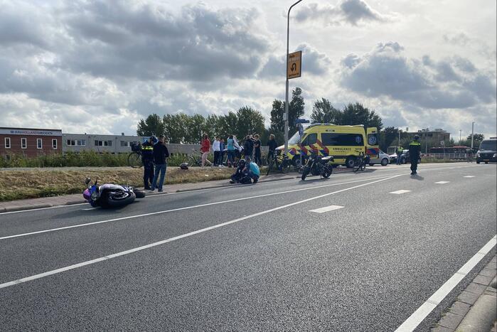 Motorrijder en fietser gewond bij ongeval