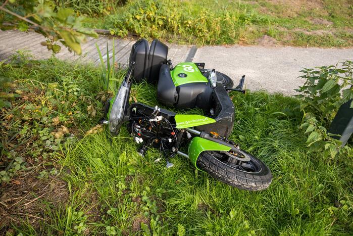GO Sharing 45 km deelscooter vernield aangetroffen