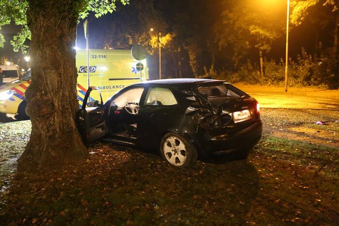 Automobilist onder invloed betrokken bij eenzijdig ongeval