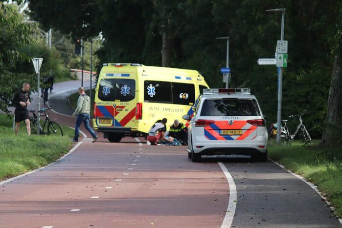 Fietser gewond bij aanrijding met andere fietser