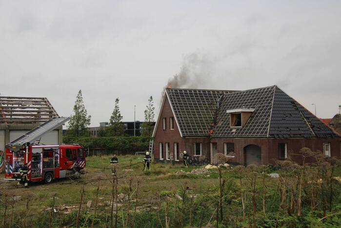 Brand ontstaan in leegstaande woning