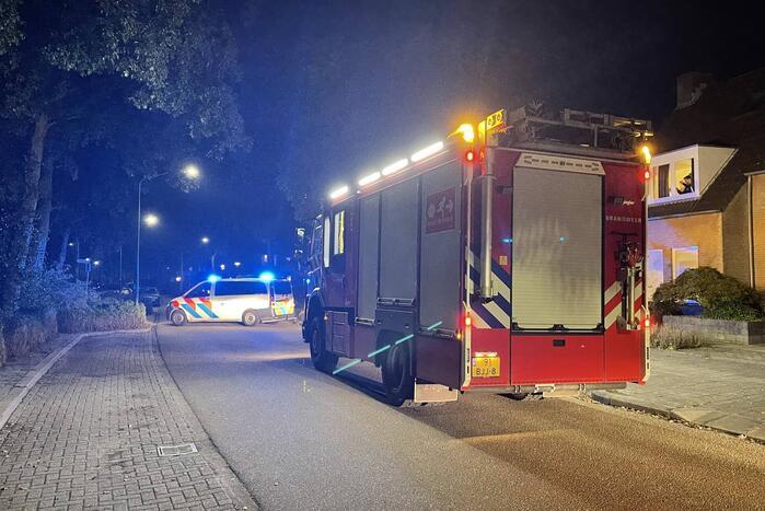 Brandweer ingezet wegens brand in achtertuin