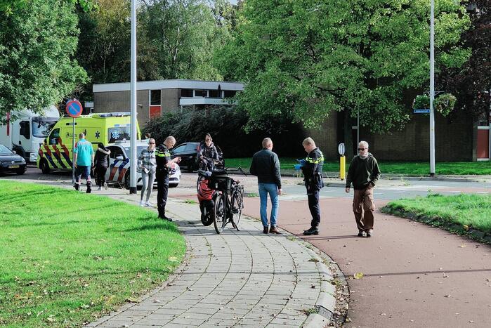 Aanrijding tussen fiets en scooter
