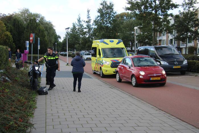 Gewonde bij ongeval tussen scooter en personenauto