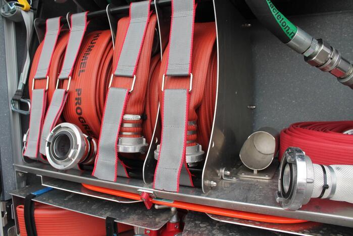 Containerbrand geblust door brandweer
