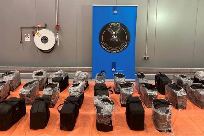Douane onderschept 712 kilo cocaïne in sporttassen